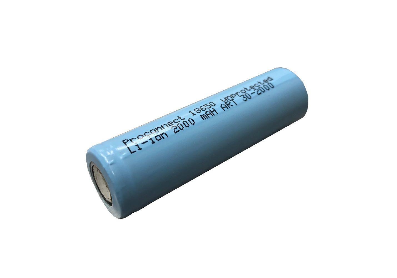 Аккумулятор 18650 unprotected Li-ion 2000 mAH PROCONNECT